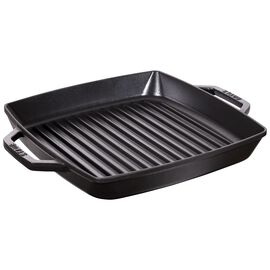 Staub Cast Iron, 11-inch Double Handle Grill Pan - Black Matte