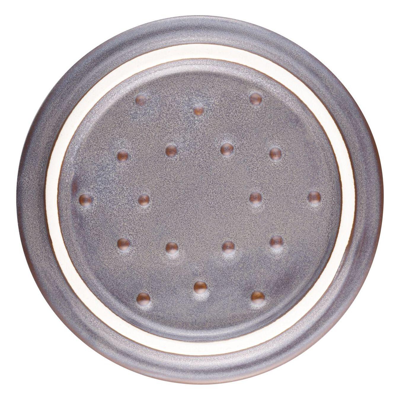 Mini Cocotte 10 cm, Rond(e), Gris antique, Céramique,,large 5
