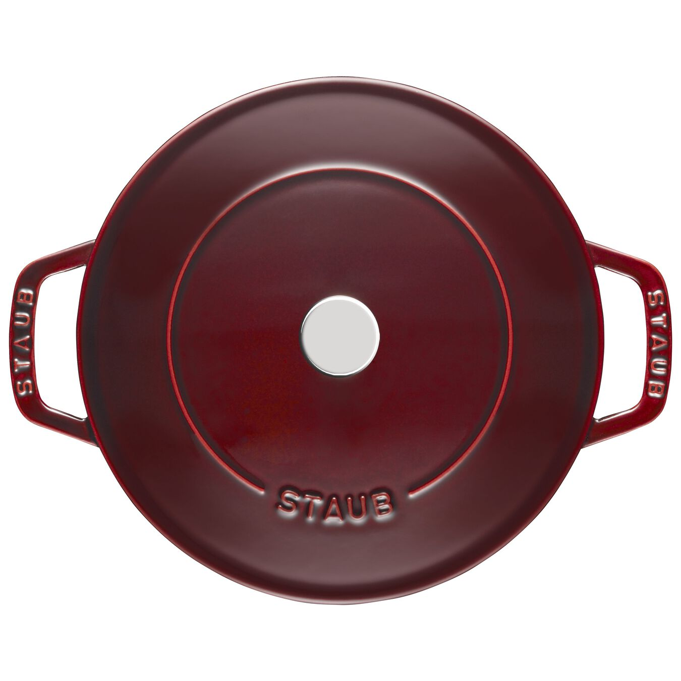 2.5 l Cast iron round Saute pan Chistera, Grenadine-Red,,large 5