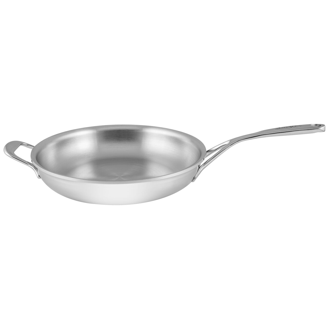 11-inch Stainless Steel Fry Pan with Helper Handle,,large 1
