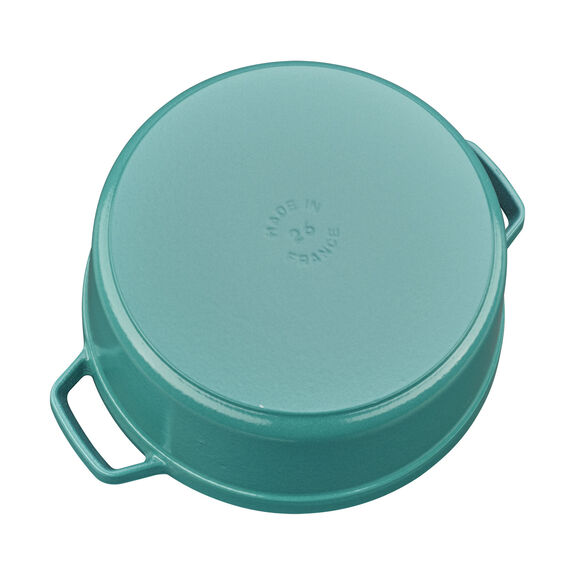 5.5-qt Round Cocotte - Turquoise,,large 3