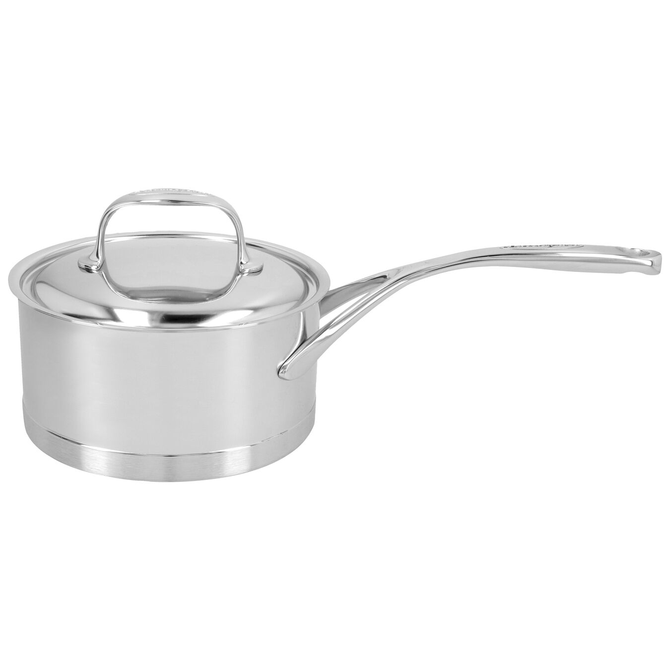 1.5 l round Sauce pan with lid, silver,,large 1