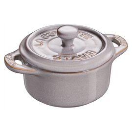 Staub Ceramique, Mini cocotte rotonda - 10 cm, grigio antico