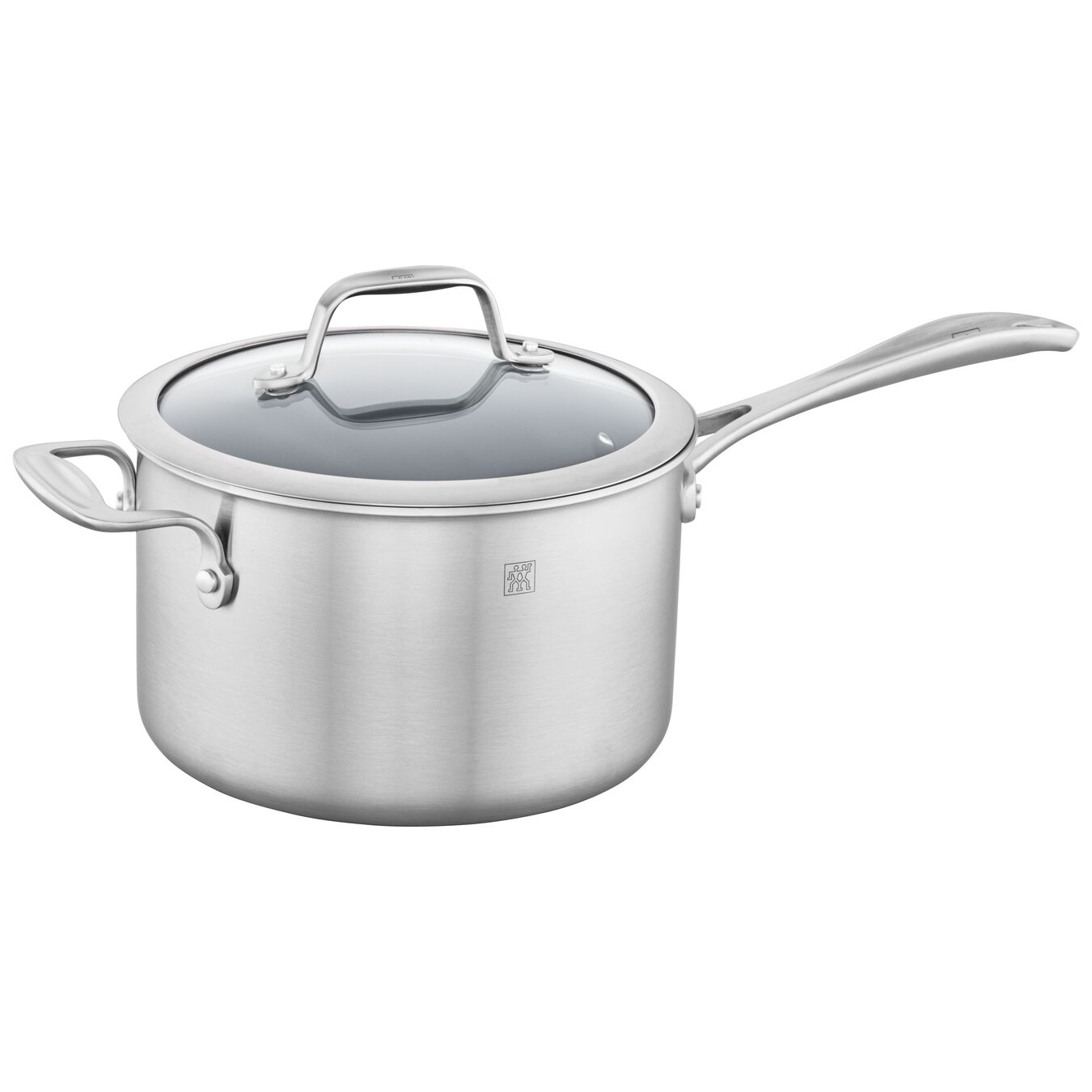 3-ply 4-qt Stainless Steel Ceramic Nonstick Saucepan,,large 2