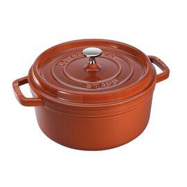Staub Cast Iron, 4-qt round Cocotte, Burnt Orange