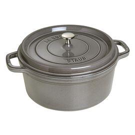 Staub Cast Iron, 7-qt Round Cocotte - Graphite Grey