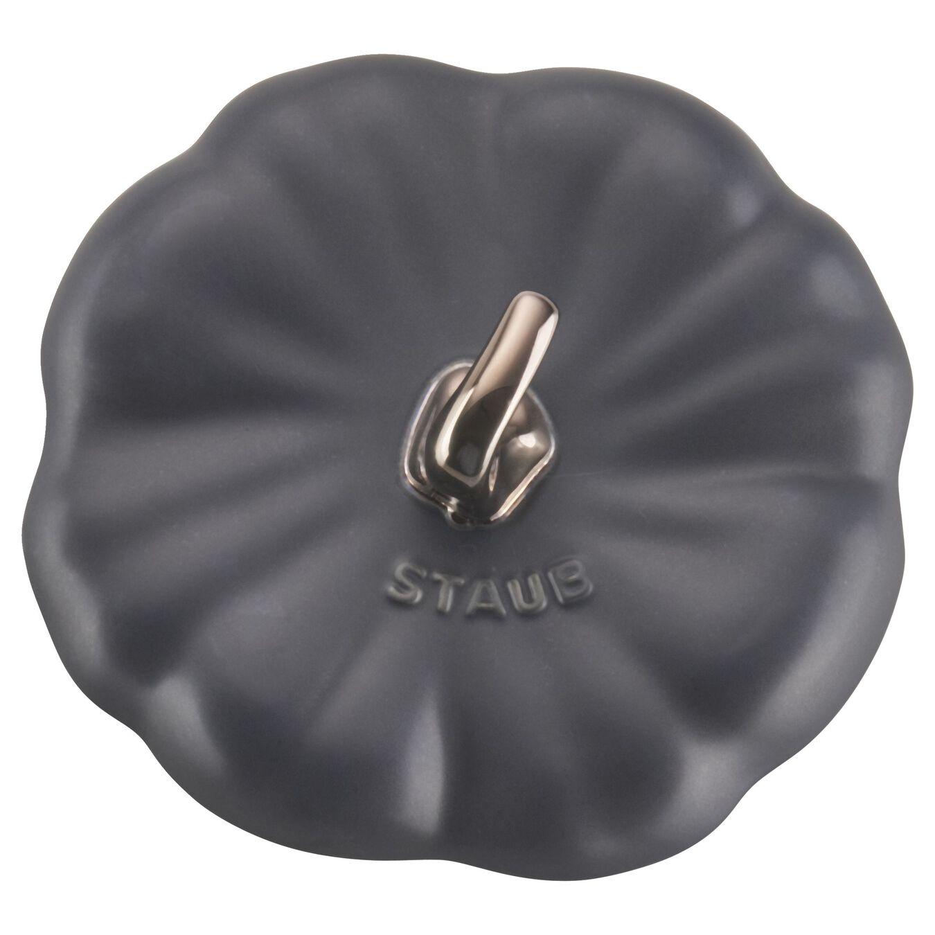 Cocotte 15 cm, Citrouille, Noir, Céramique,,large 9