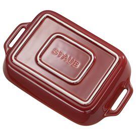 Staub Ceramics, 10.5-inch x 7.5-inch Rectangular Baking Dish - Rustic Red
