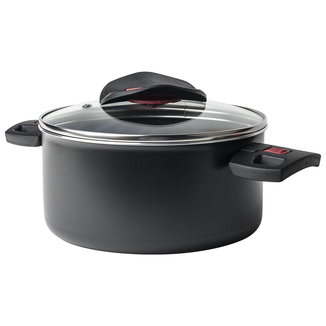 3.5 qt Stock pot with glass lid, Aluminum ,,large 1