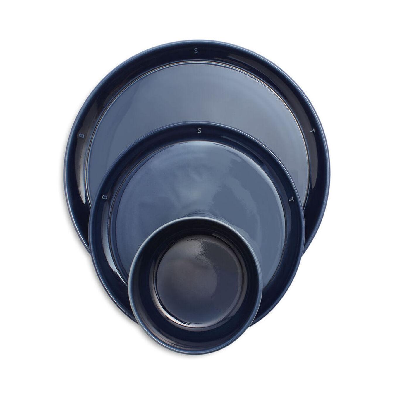 Set à servir, 12-pcs | Dark-Blue | Ceramic | round | Ceramic,,large 1