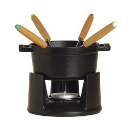 Staub Cast Iron, 0.25-qt Mini Chocolate Fondue Set - Matte Black