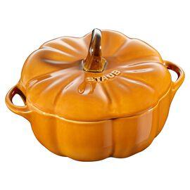 Staub Ceramique, 0.5-qt-/-12-cm Pumpkin Cocotte, Cinnamon