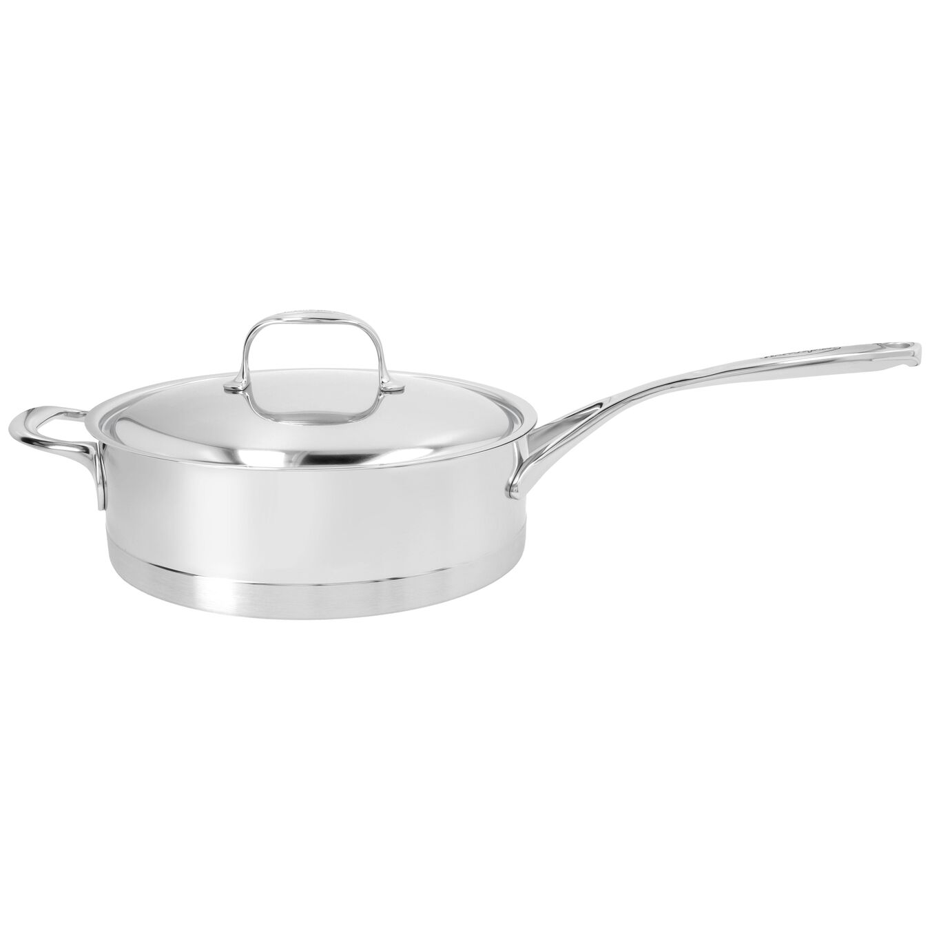 9.5-inch Sauté Pan with Helper Handle and Lid, 18/10 Stainless Steel ,,large 1