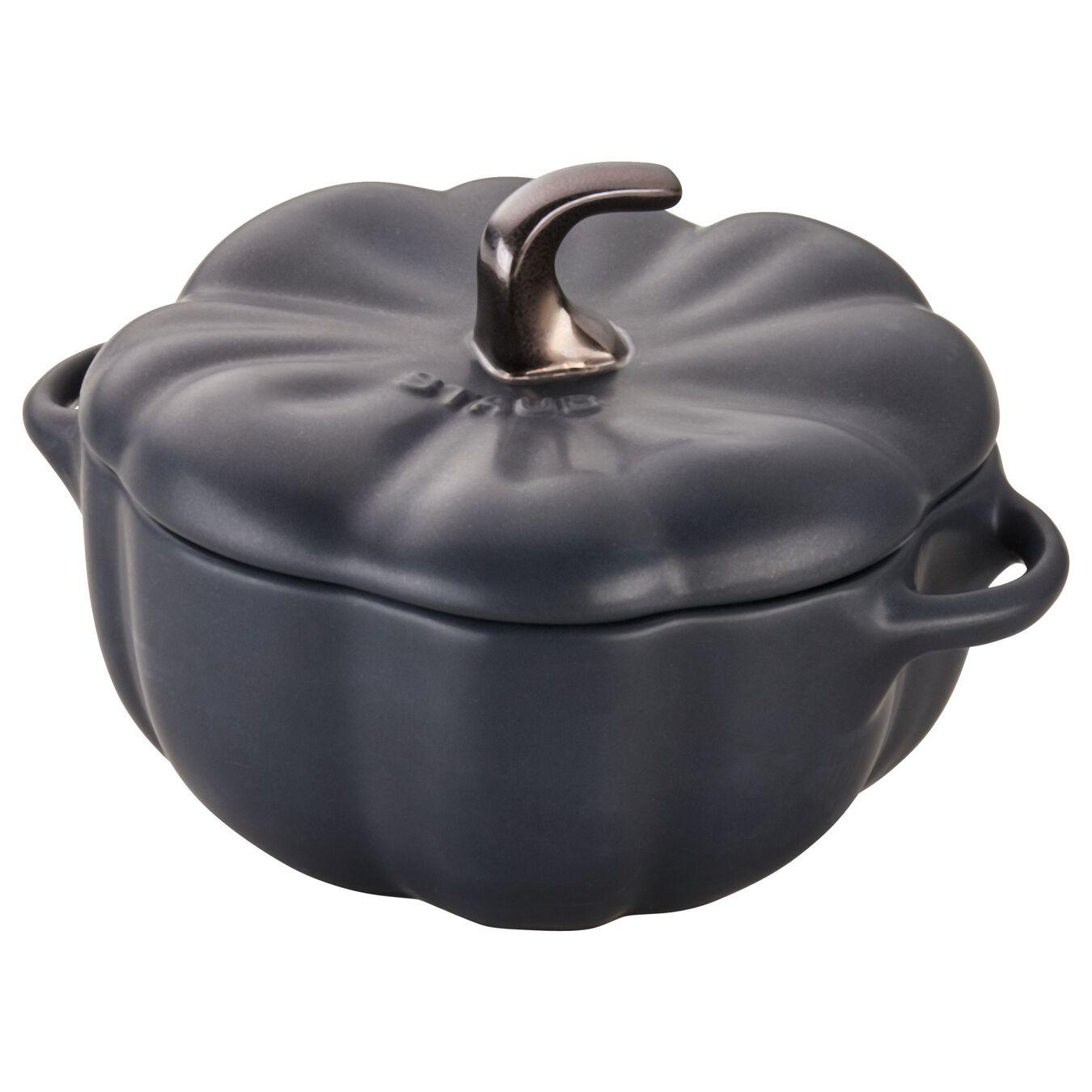500 ml Ceramic pumpkin Cocotte, Black,,large 7