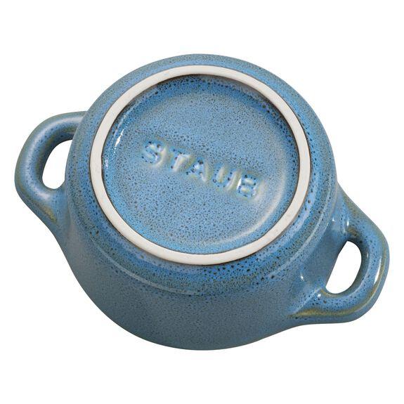 3-pc Mini Round Cocotte Set, Rustic Turquoise, , large 5