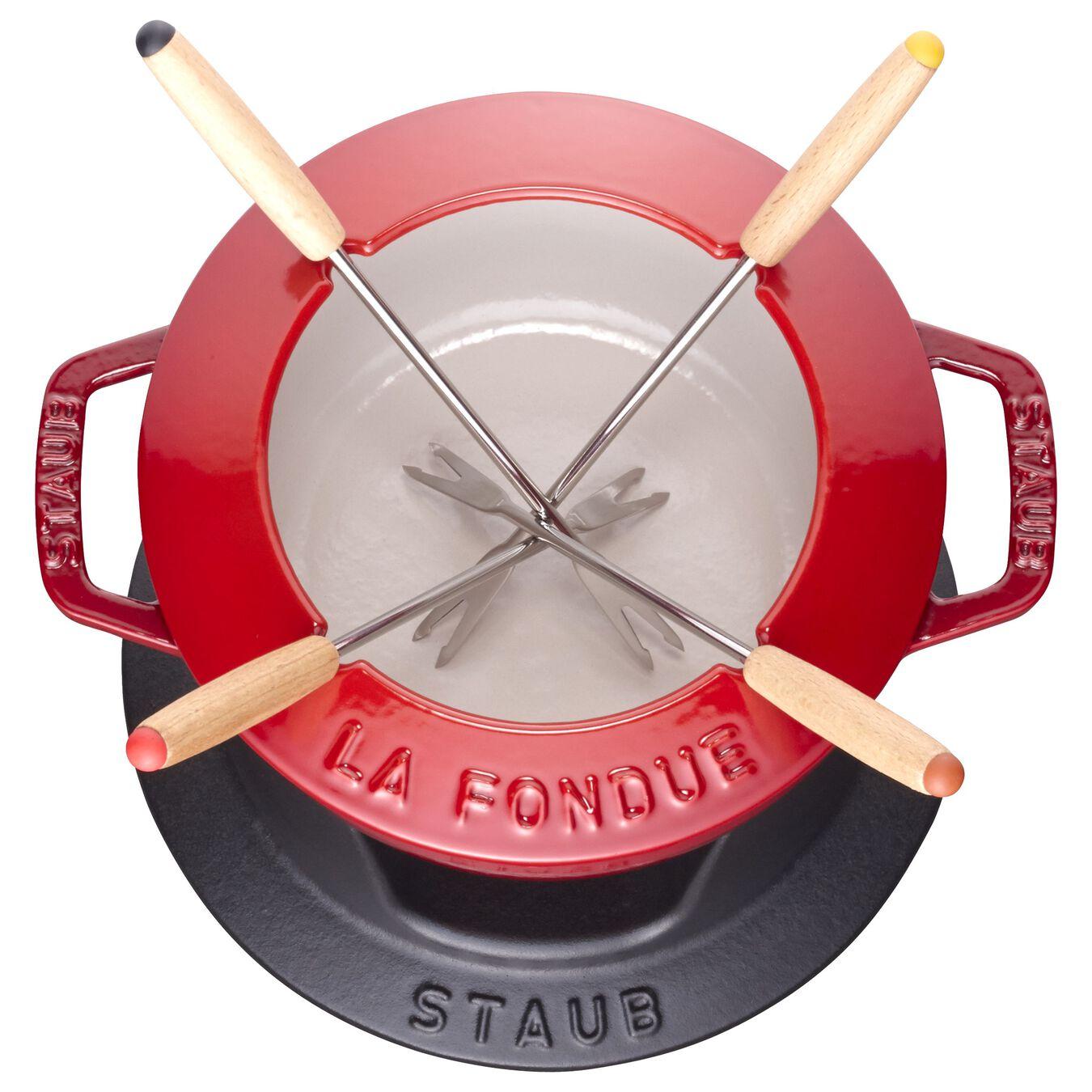 Service à fondue 16 cm, Cerise, Fonte,,large 2