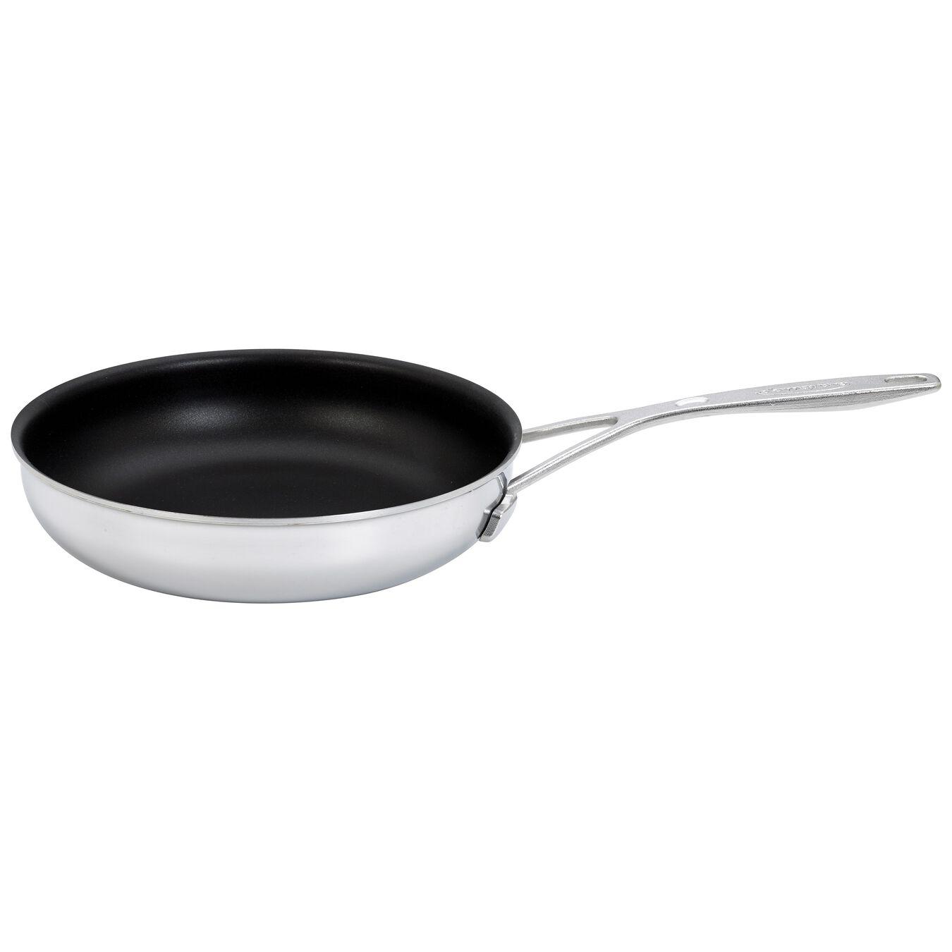 Poêle 20 cm, Inox 18/10, Silver-Black,,large 1