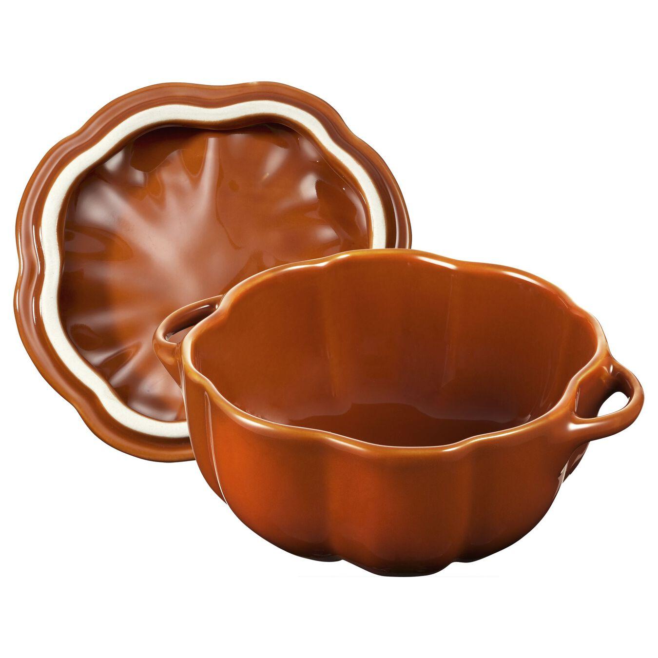 0.5 qt, pumpkin, Cocotte, burnt orange,,large 2