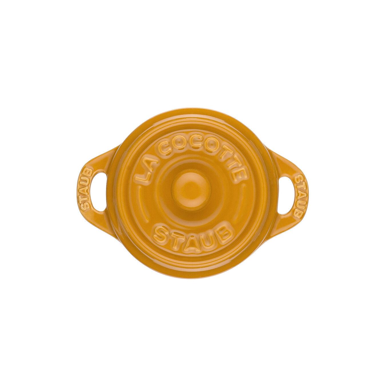 Mini Cocotte 10 cm, Rond(e), Moutarde, Céramique,,large 3