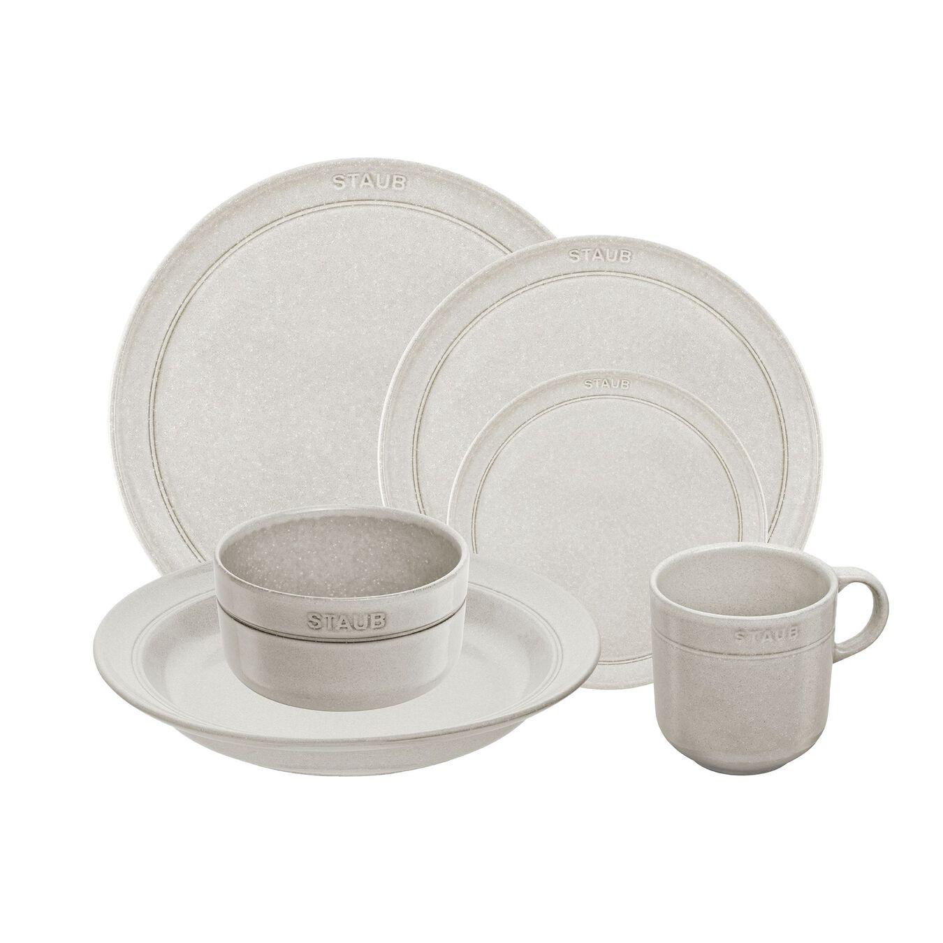 Serving set, 48 Piece   White Truffle   Ceramic   Ceramic,,large 1