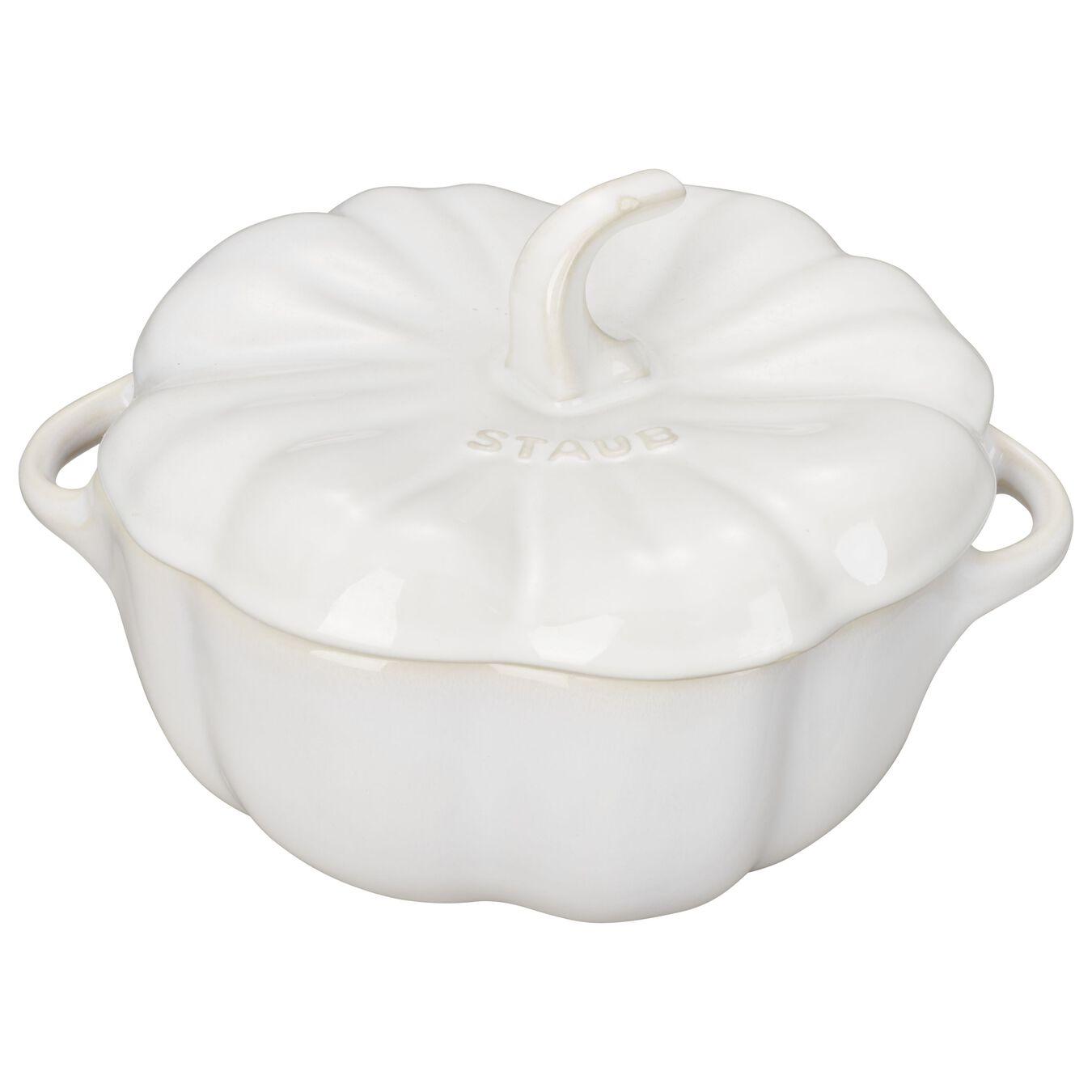 700 ml Ceramic pumpkin Cocotte, ivory-white,,large 1