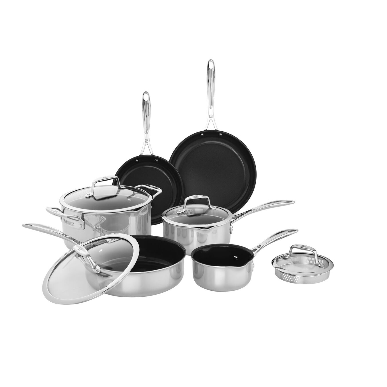 10-pc Stainless steel Cookware Set,,large 1