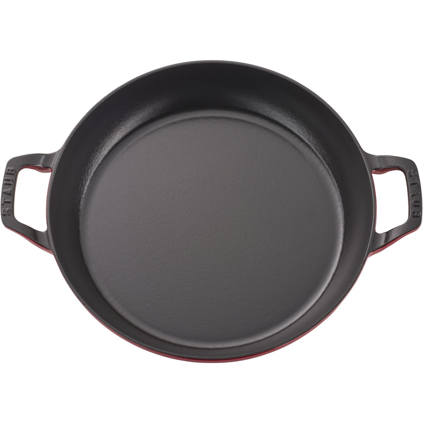 12-inch, Saute pan with glass lid, cherry,,large 2