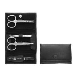 ZWILLING Elemental, 5-pc, Leather Snap fastener case, black matte
