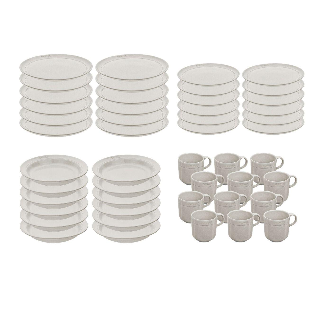 Serving set, 48 Piece | white truffle | Ceramic | Ceramic,,large 2