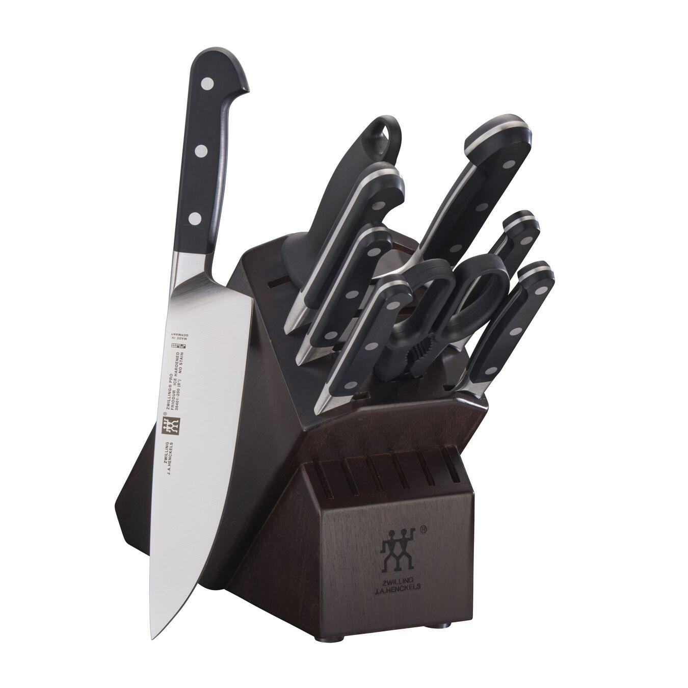 10-pc, Knife block set, walnut,,large 1