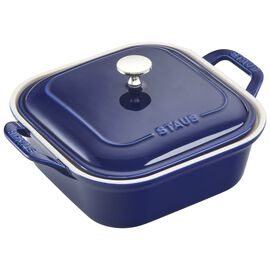 Staub Ceramics, 9-inch X 9-inch Square Covered Baking Dish - Dark Blue