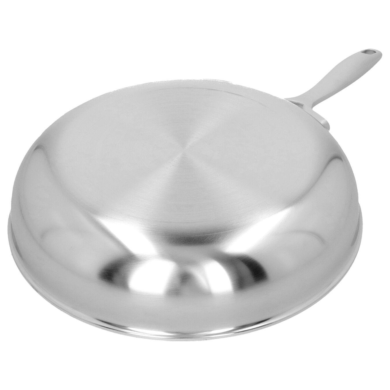 Poêle 24 cm, Inox 18/10, Noir argenté,,large 5