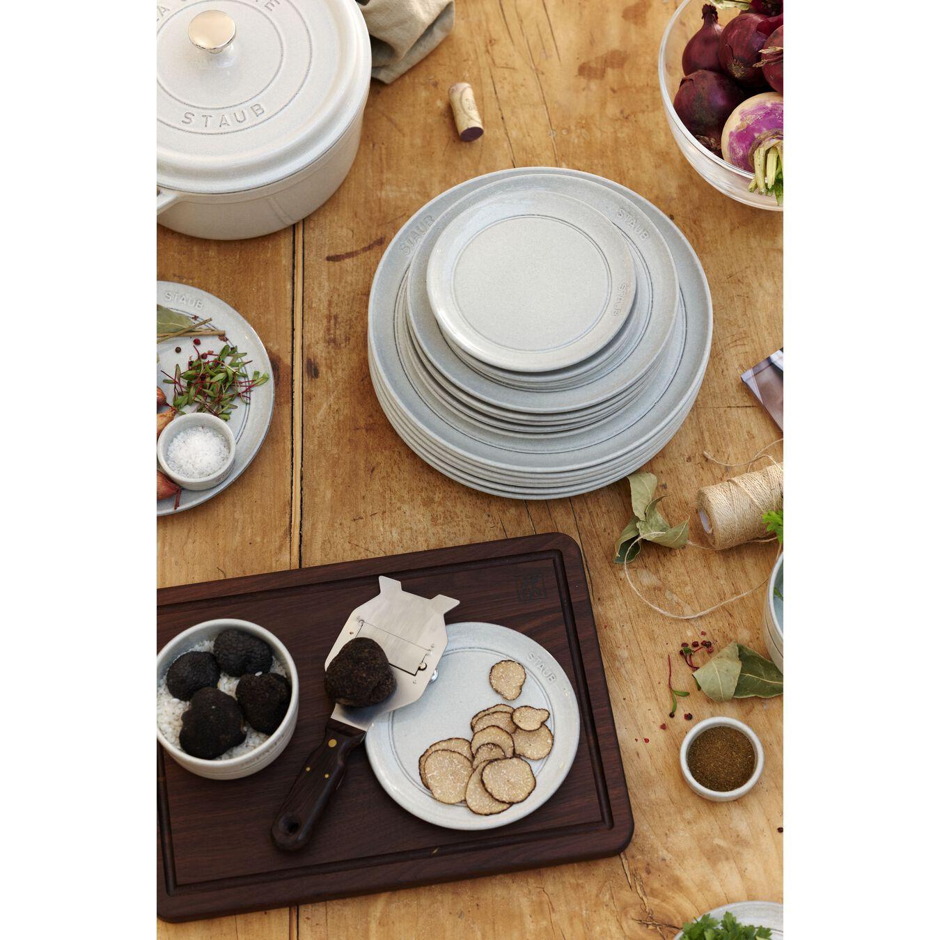 Serving set, 48 Piece | white truffle | ceramic,,large 15