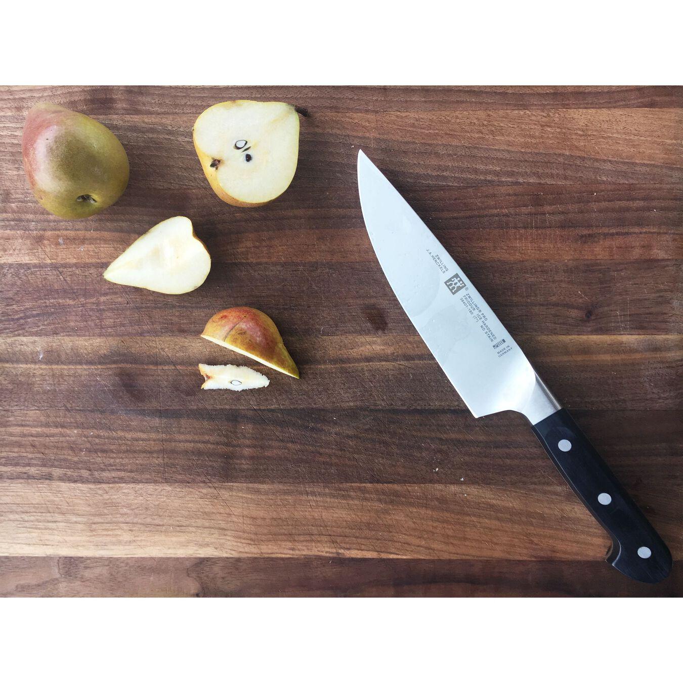 Couteau de chef 18 cm, Noir, Plastique,,large 2