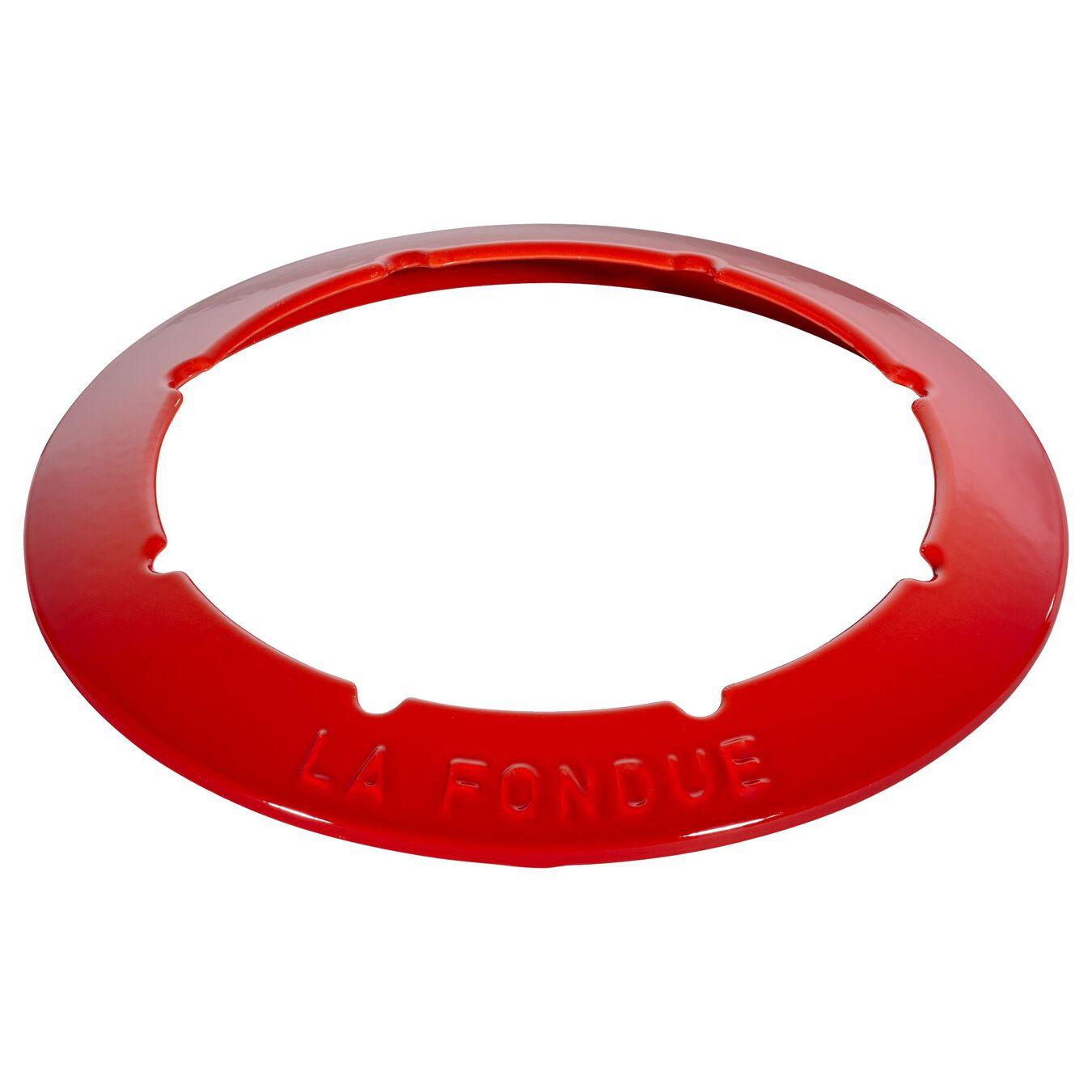 Fondue Set 18 cm, Kirsch-Rot,,large 4