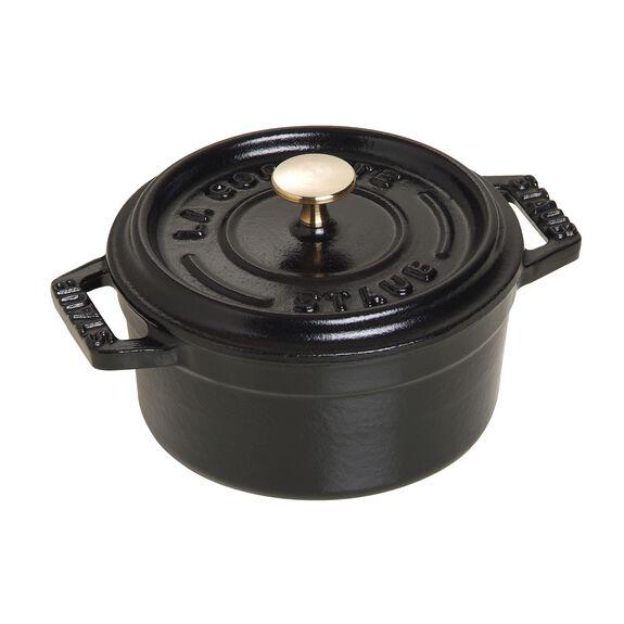 10-cm-/-4-inch round Mini Cocotte, Black,,large 3