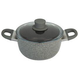 BALLARINI Murano, Casseruola con coperchio - 24 cm, alluminio, Granitium Extreme
