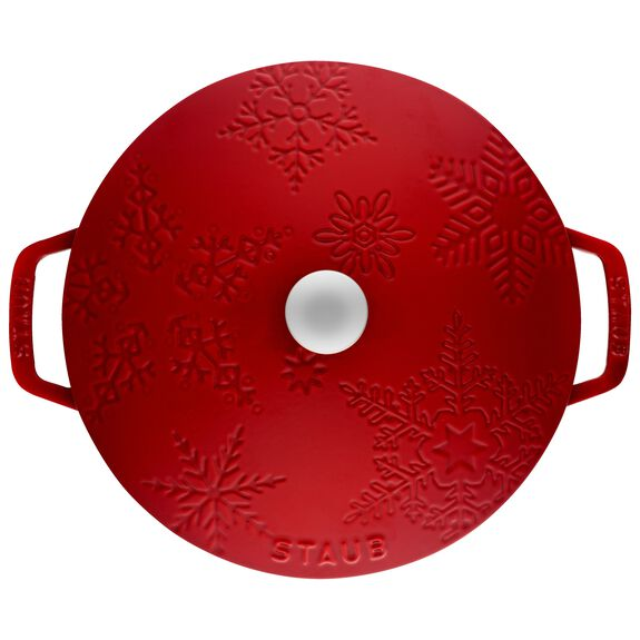 3.75-qt round French oven, Cherry,,large 2