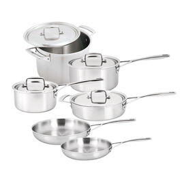 Demeyere Essential 5, 10 Piece 18/10 Stainless Steel Cookware set
