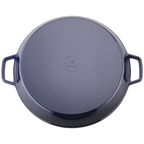 15-inch Double Handle Fry Pan / Paella Pan - Dark Blue,,large 3