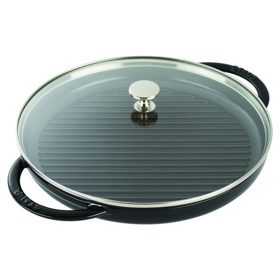 12-inch Round Steam Grill - Black Matte,,large 3
