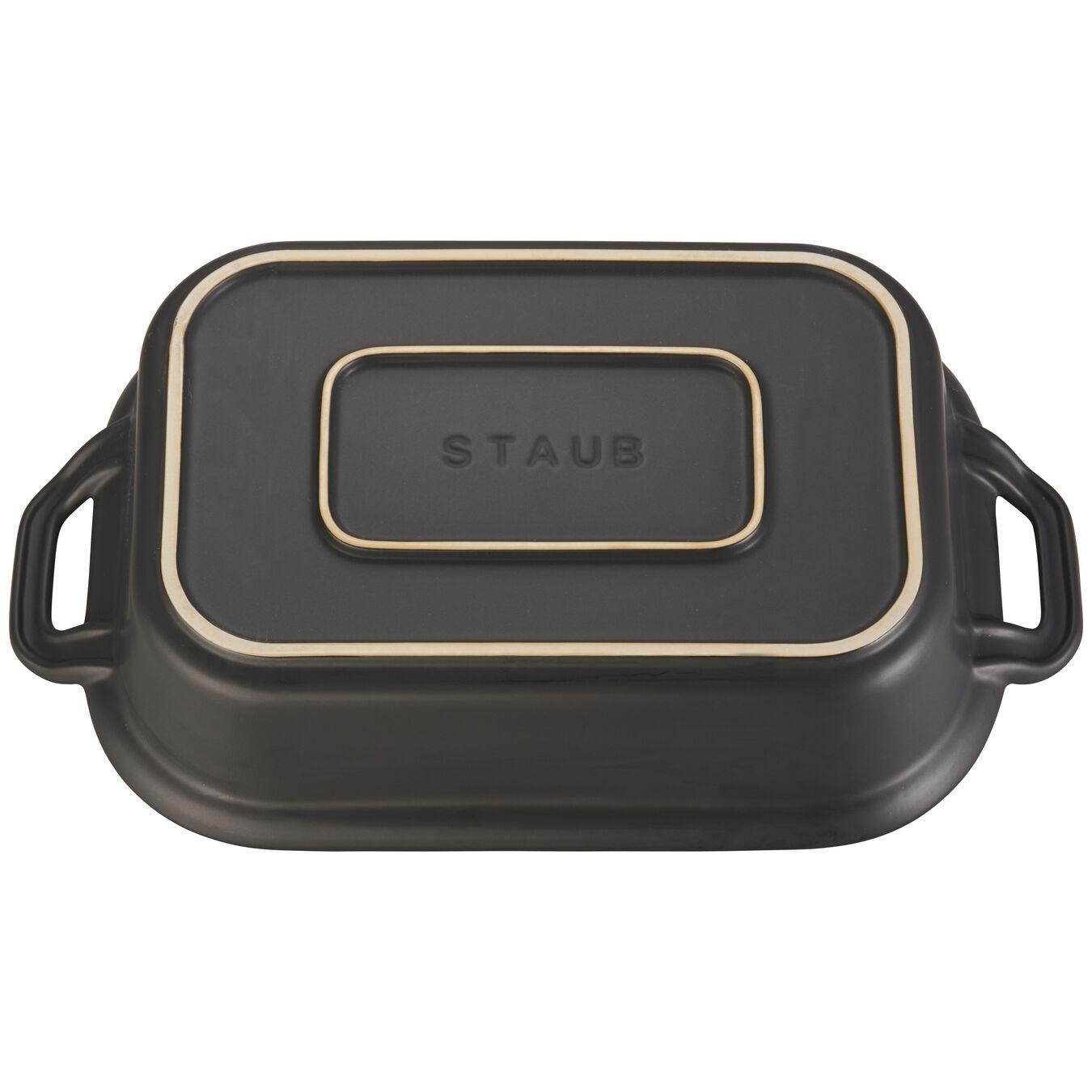 Ceramic rectangular Moules de forme spéciale, Black,,large 3