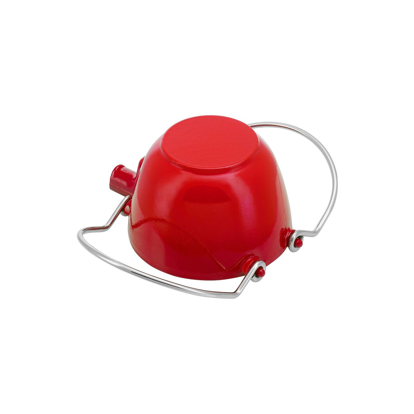 1.25 l Cast iron Tea pot, Cherry,,large 4
