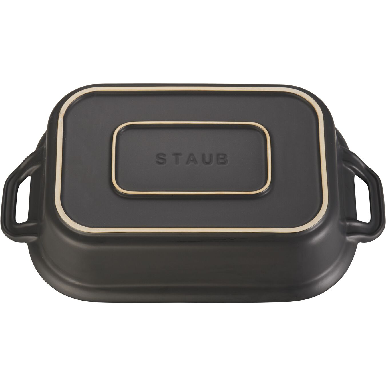 Ceramic rectangular Special shape bakeware, Black,,large 3