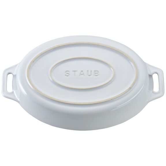 9-inch Oval Baking Dish - White,,large 3