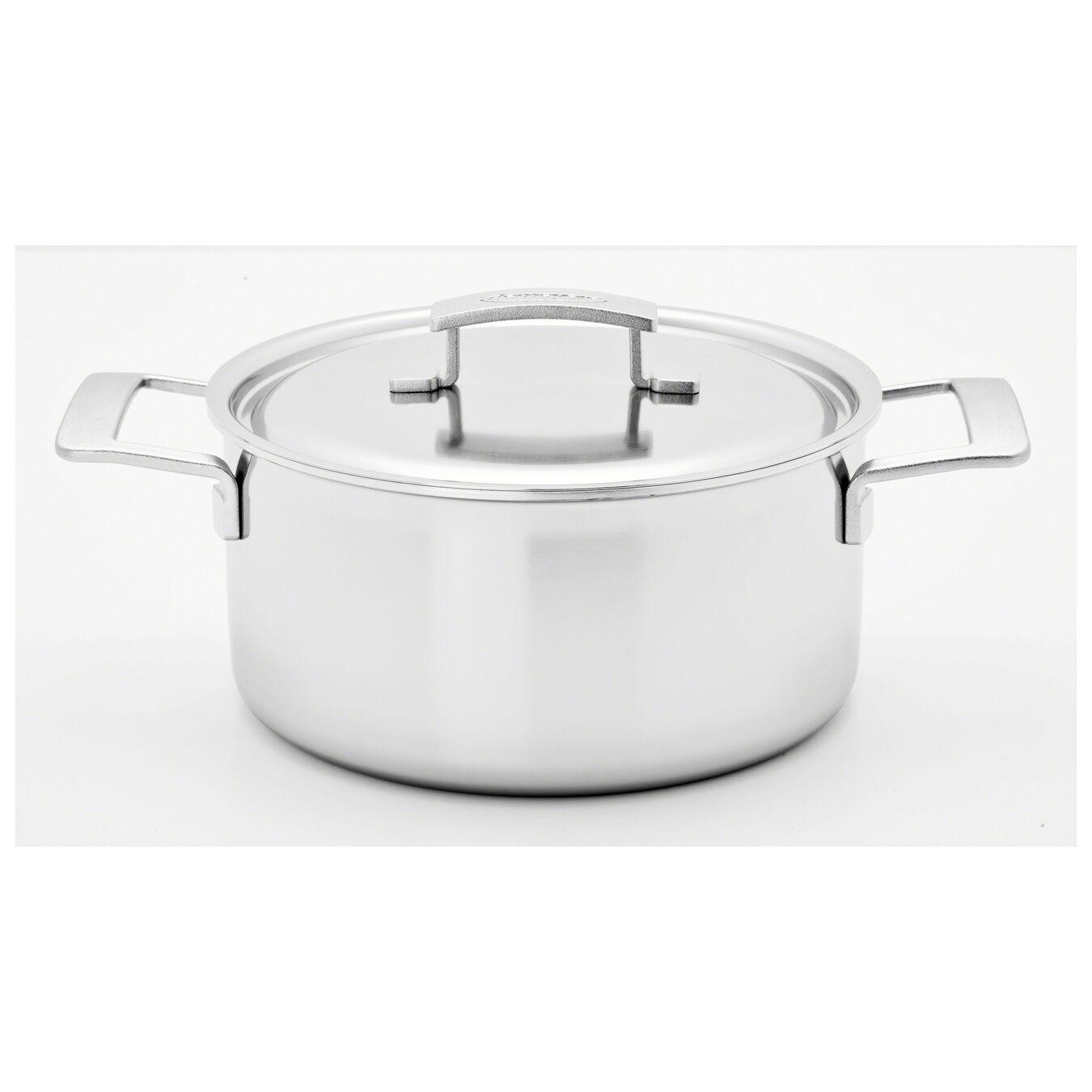 10-pcs 18/10 Stainless Steel Ensemble de casseroles et poêles,,large 3