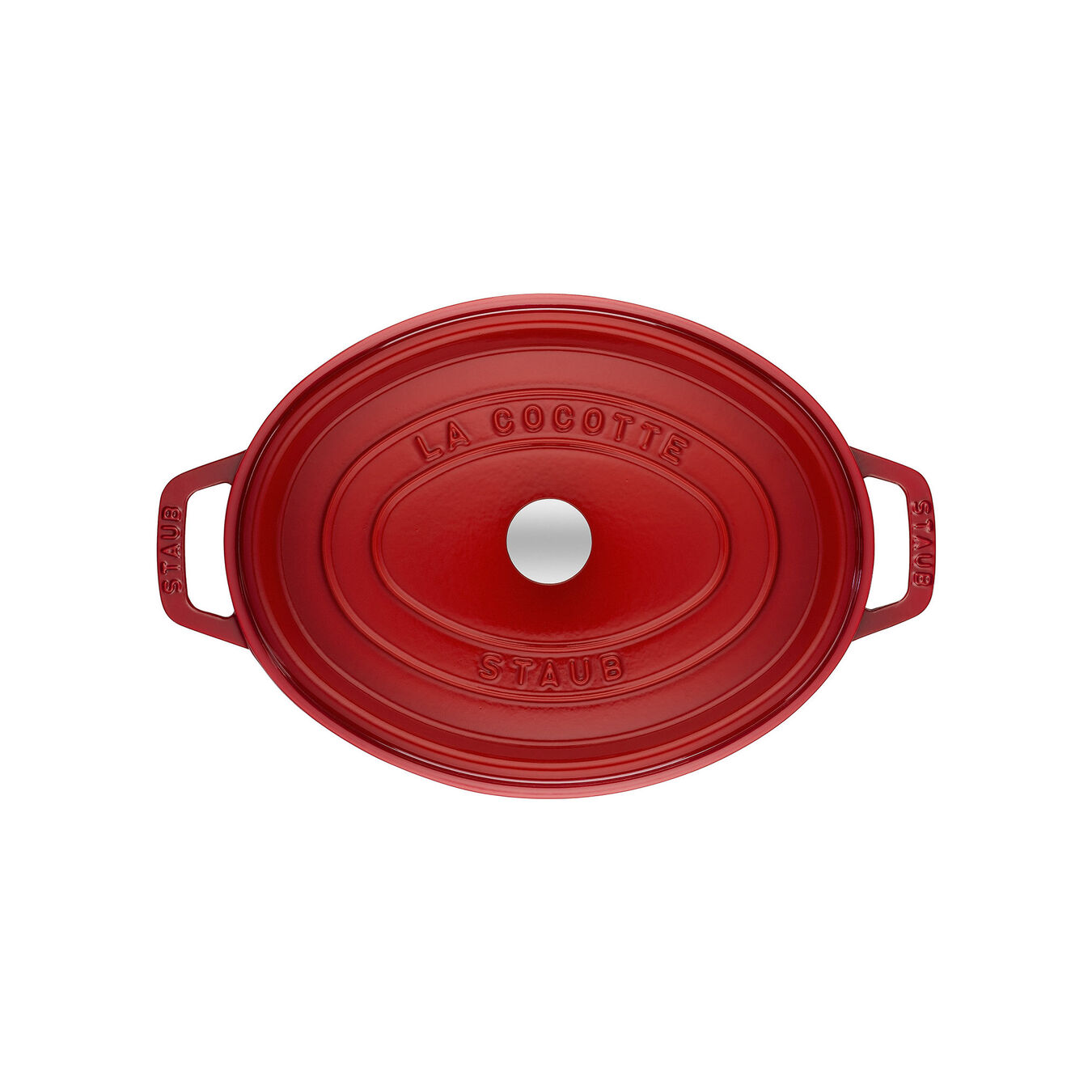 Cocotte 23 cm, oval, Kirsch-Rot, Gusseisen,,large 2