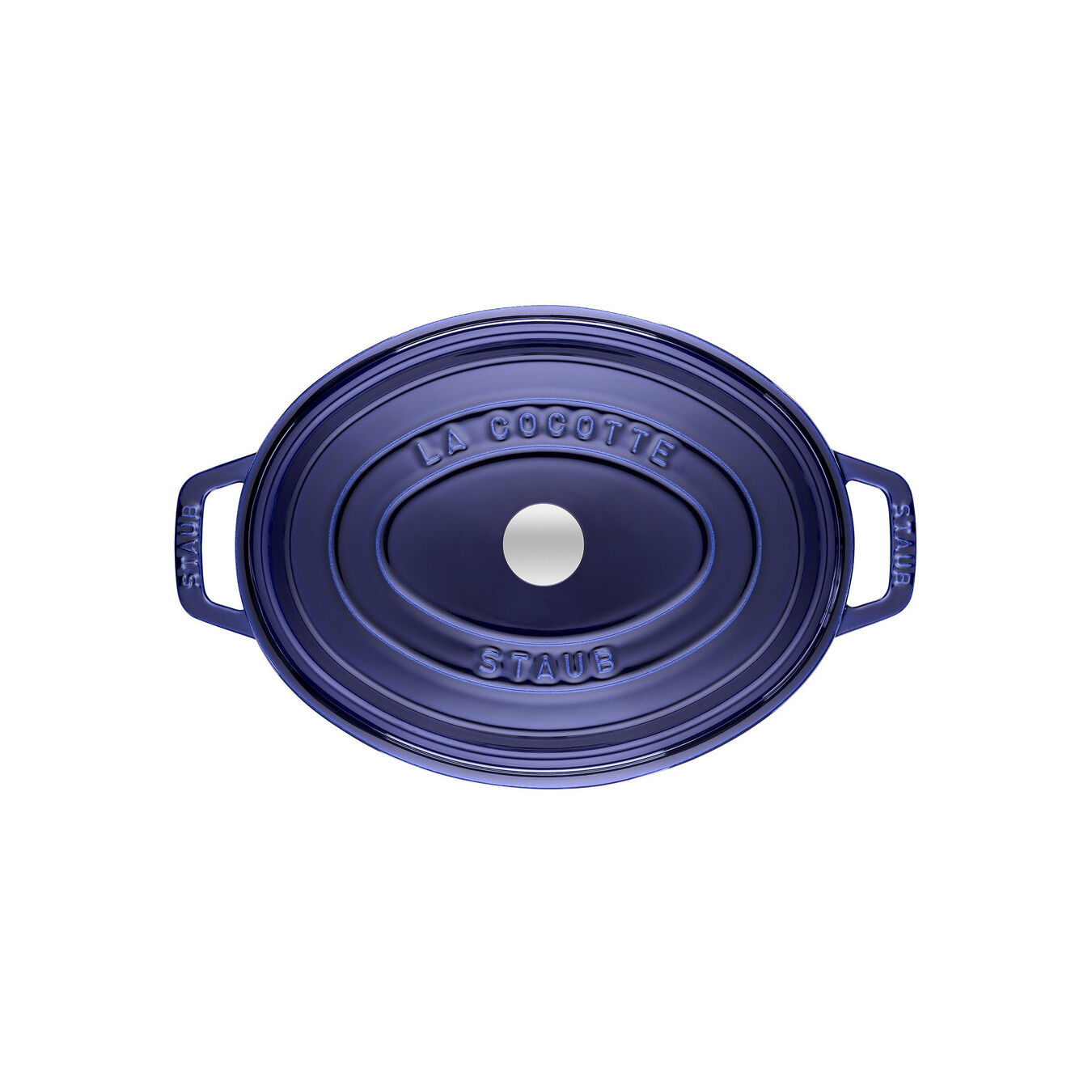 4,25 l Cast iron oval Faitout, Dark-Blue,,large 2
