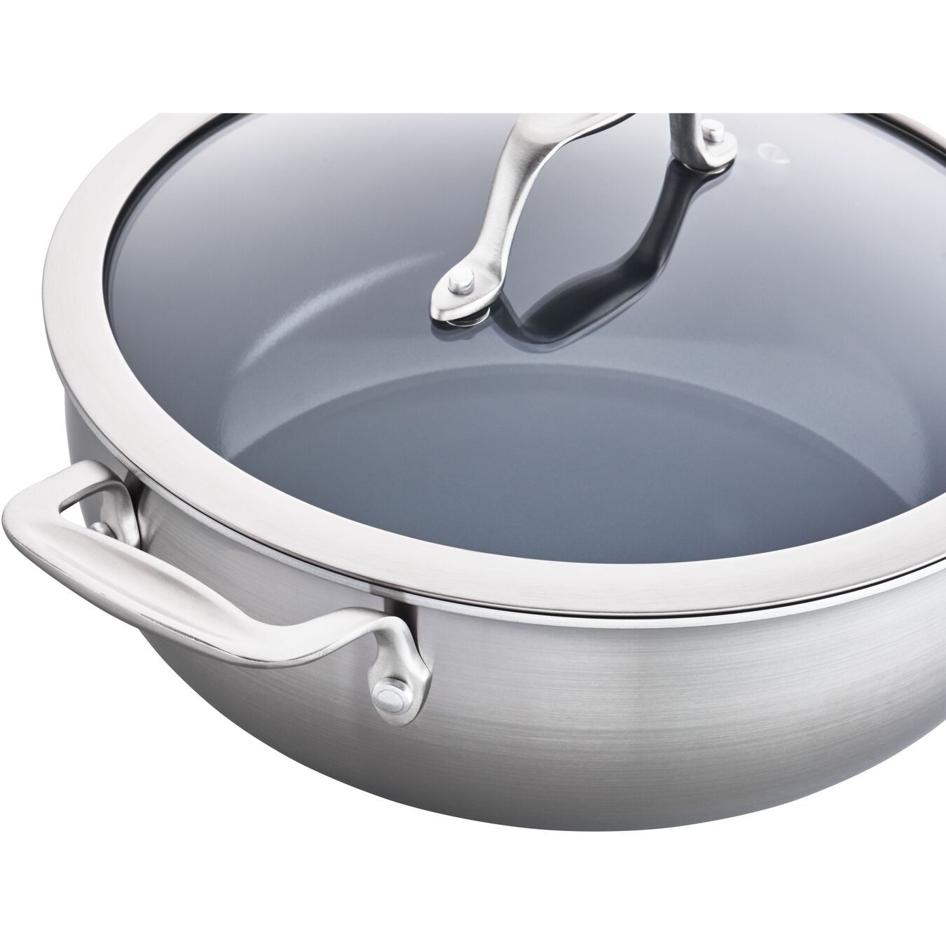 10-inch Saute pan, 18/10 Stainless Steel ,,large 3