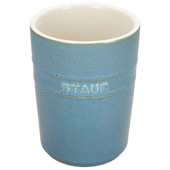 Utensil Holder, Rustic Turquoise, , large